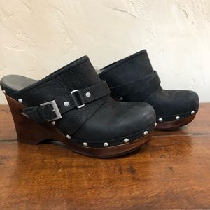 UGG Jolene Sz 8 black smooth suede leather